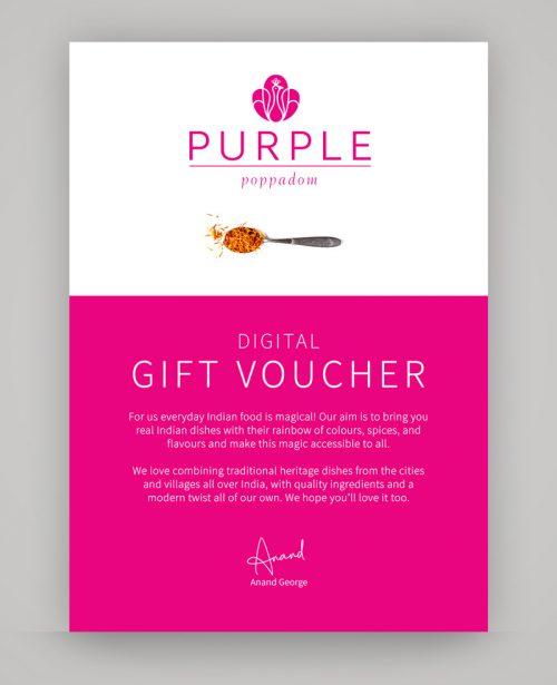 Purple Poppadom Gift Voucher