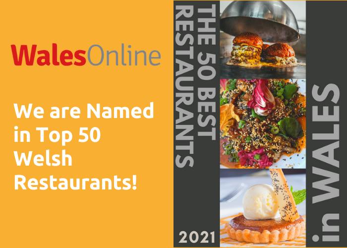 Purple Poppadom in TOP 50 Welsh Restaurants