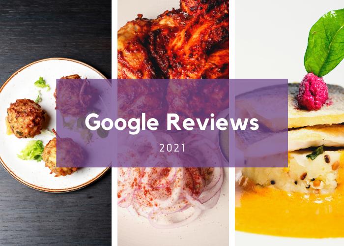 Lovely Google Reviews for Purple Poppadom