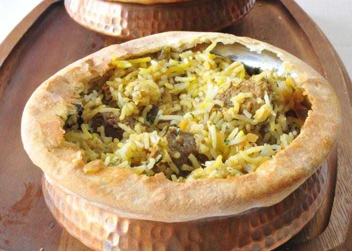 Kerala-style Biryani as served at Purple Poppadom